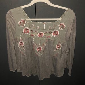 Free People, Floral Pattern Blouse
